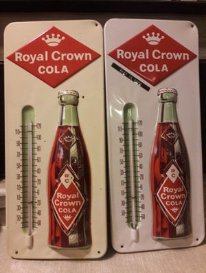 1950s RC COLA THERMOMETER ENAMELLED LOVELY COUPLE for Sale in San Jose, CA
