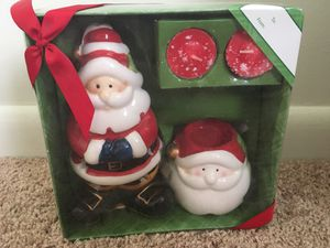 Santa tea light candle holder NIB for Sale in Winchester, VA