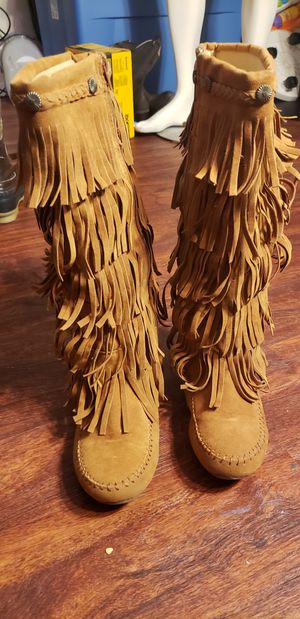5-Layer Fringe Boots for Sale in Austin, TX