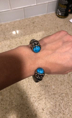 Turquoise and silver bracelet for Sale in Austin, TX