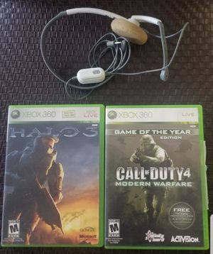 ☆XBOX 360 (2) games & Headset☆ for Sale in National City, CA