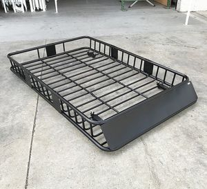 """(NEW) $125 Universal Roof Rack Car Top Cargo Basket Carrier w/ Extension Luggage Holder 64""""x39""""x6.5"""" for Sale in South El Monte, CA"""