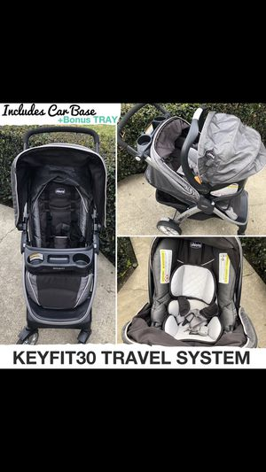 Chicco Bravo Keyfit 30 Travel System for Sale in Davenport, IA