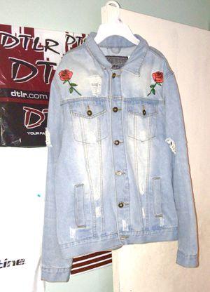 Rose jean jacket for Sale in Hyattsville, MD