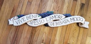 Live Well, Love Much, Laugh Often in Italian. for Sale in Staten Island, NY