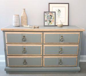 Wood Desk, Chair, and Dresser Set for Sale in Sterling, VA