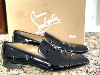 Men's Christian Louboutin Size 11 Dandelion Dress Black Patent Leather Loafers Size 44 European for Sale in Brookhaven,  GA