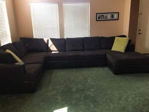 Brown Corduroy 3 piece sectional the will easily seat 8-10 people ! for Sale in Antioch, CA