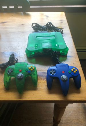 Neon green N64 with 2 original controllers(No Games for Sale in Newtown, CT