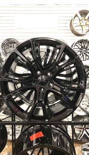 "20"" gloss black srt8 style wheels rims tires fit 5x127 fit Dodge Durango srt rt grand Cherokee Jeep for Sale in Queens, NY"