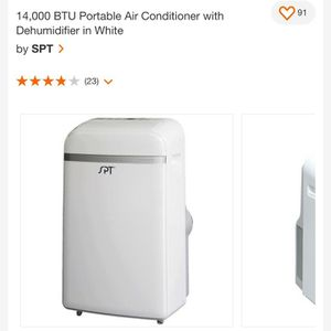 14,000 BTU Portable Air Conditioner with Dehumidifier in White for Sale in Nellis Air Force Base, NV