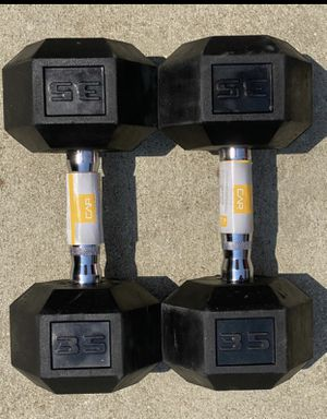 🚨🏋️♀️🏋🏽♂️ Brand New Dumbbell Weight Set 2 x 35lbs dumbbells for Sale in Fontana, CA