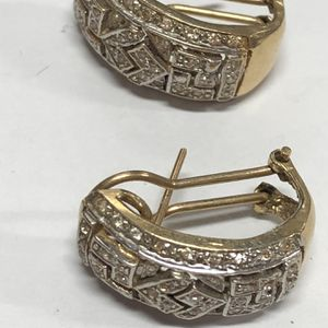 14k Gold Diamond Earrings 7.6 Grams (GS) for Sale in Los Angeles, CA