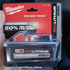 Milwaukee XC 8.0 Battery Red LIthium for Sale in Fort Myers, FL