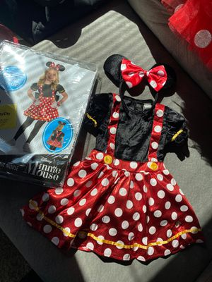 (swipe to see everything incl) Minnie Mouse 2T toddler costume and party supplies for Sale in Laurel, MD