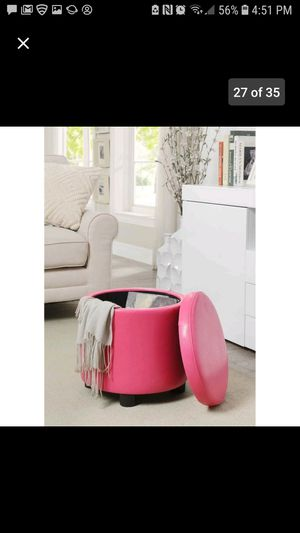 Pink Round Accent Ottoman for Sale in West Valley City, UT