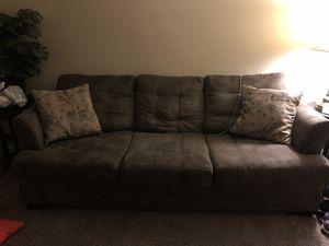 Light mocha Sofa and 2 end tables for Sale in Lynchburg, VA