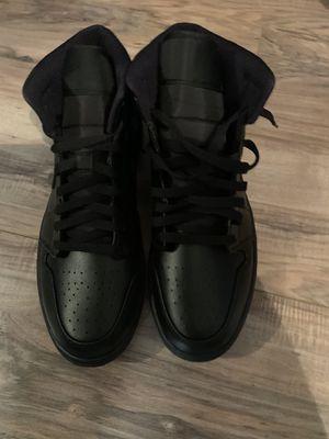All black Jordan 1 Mids size 12 for Sale in West Sacramento, CA