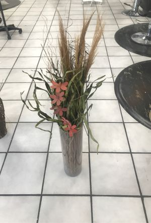 Glass vase with flowers for Sale in Los Angeles, CA