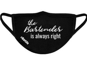 Bartender is always Right face mask for Sale in York, PA
