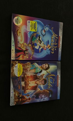 Aladdin Animated & Live Action Blu-Ray + DVD + Digital Code for Sale in Sedro-Woolley, WA