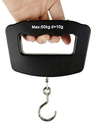 Luggage Scale LCD Portable Fishing Scale Digital Travel Hanging Hook Scale 110lb/50kg for Sale in New York, NY