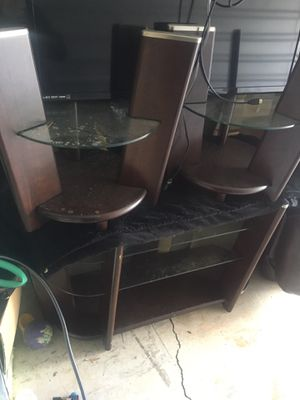 T.V stand with two end tables plus middle table. for Sale in Atlanta, GA