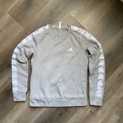 Adidas Girls Size Small Gray White Sweatshirt Crewneck Sweater for Sale in Bloomington,  IL