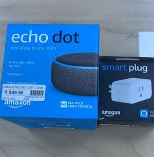 Echo Dot with smart plug 👌 for Sale in Marietta, GA