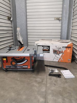 RIDGID 15 Amp Corded 10 in. Compact Table Saw with Carbide Tipped Blade for Sale in San Diego, CA
