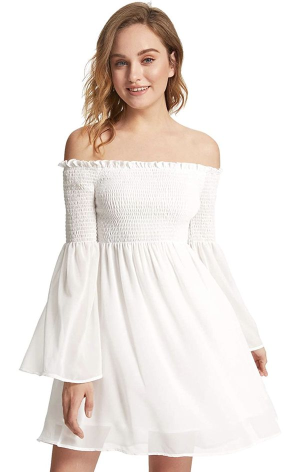 New Romwe white off the shoulder dress - M