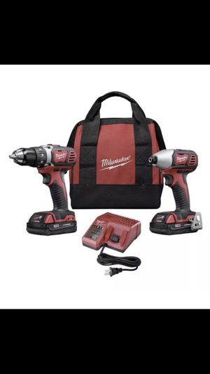 Milwaukee 269122 M18 18V Lithium-Ion 1/2 in. Drill Driver and 1/4 in. Impact Driver High Performance Combo Kit for Sale in Stanardsville, VA