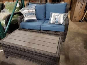 New outdoor patio furniture 2pc set motion loveseat and table for Sale in Hayward, CA