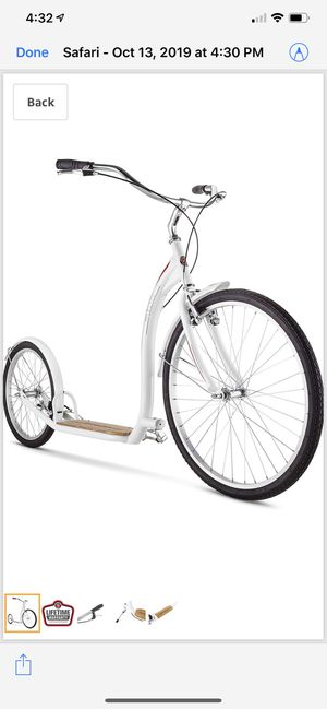 Schwinn scooter bike! Excellent condition! White color. for Sale in La Mesa, CA