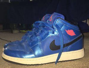 Blue Air Jordan Retro 1's size 5.5Y for Sale in Santa Fe, NM