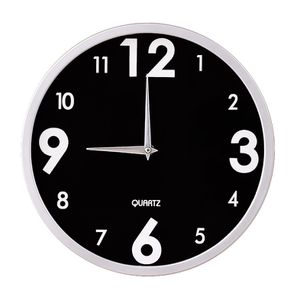 "New Jerry & Maggie -12"" Wall Clock with Glass Shell Silver & Black for Sale in Paramount, CA"