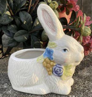 Vintage MCM Easter Bunny Rabbit Porcelain Figurine Planter Candle Holder Home Decor for Sale in Chapel Hill, NC
