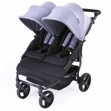 New Baby Monsters Easy Twin 2.0 Double Stroller Replacement hoods black, set of two