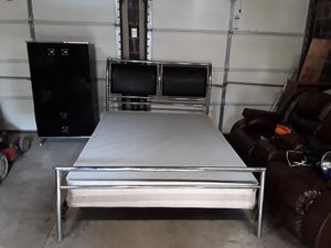 Slegh bed, dresser, nightstand and frame for Sale in Baltimore, MD