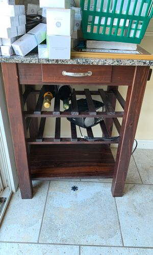 Granite Table Top with Small Drawer and Wine Holder for Kitchen for Sale in San Diego, CA