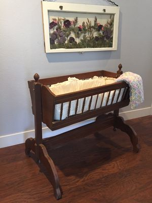 Vintage baby cradle for Sale in Cohasset, CA