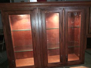 BEAUTIFUL BIRCHWOOD LIGHTED KITCHEN CABINETS for Sale in San Antonio, TX