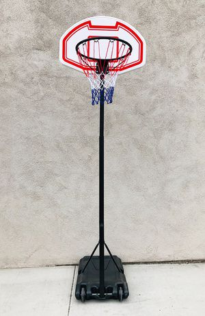 "New $50 Kids Junior Sports Basketball Hoop 28x19"" Backboard, Adjustable Rim Height 5' to 7' for Sale in Whittier, CA"