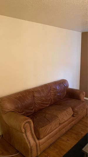 Large leather couch for Sale in Bend, OR