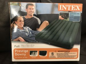INTEX Inflatable Mattress Air Bed Prestige Downy Full New for Sale in San Diego, CA