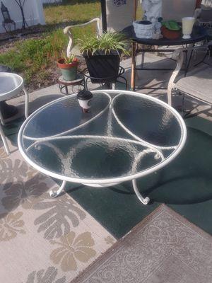 Old Jordan Brown maker aluminum welder glass top table for Sale in Ruskin, FL
