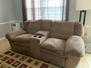 Micro fiber material couch recliner for Sale in Fieldsboro, NJ