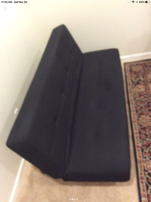 Black ikea futon no pet no smoking like new for Sale in Turlock, CA