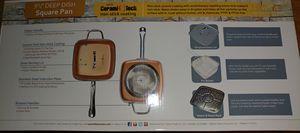 """Copper Chef Non-Stick 9.5"""" Square Frying Pan Set + Bonuses for Sale in Orlando, FL"""