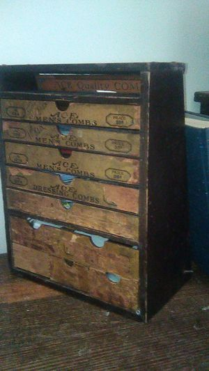 Antique Ace Combs Display/Cabinet for Sale in Long Beach, CA